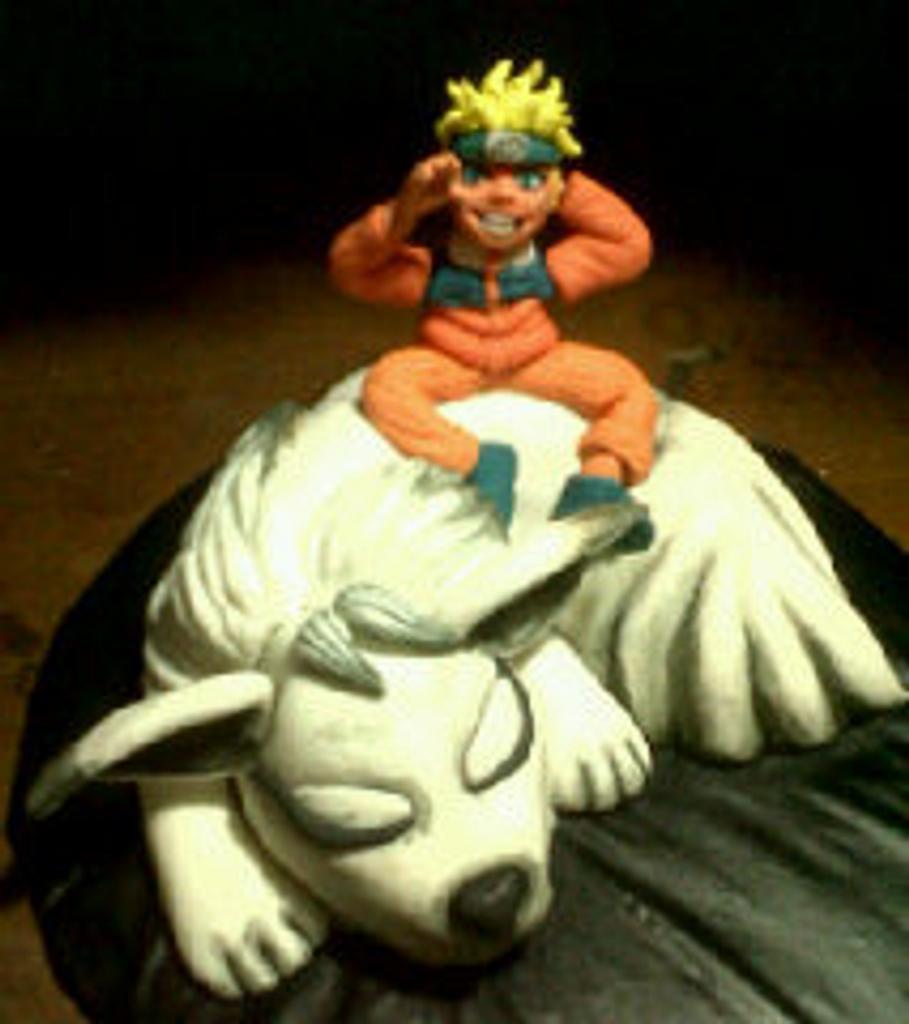 Naruto and Nine Tailed Fox by Marissa's Sugar & Chocolate Art