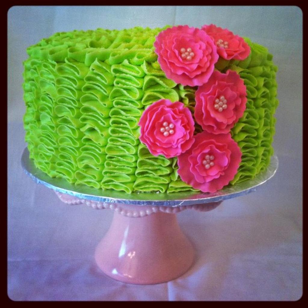 RUFFLY GIRLY CAKE by Christie's Custom Creations(CCC)