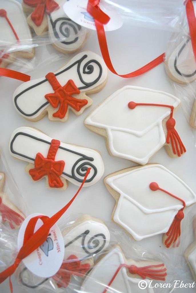 Graduation Caps & Diplomas by Loren Ebert