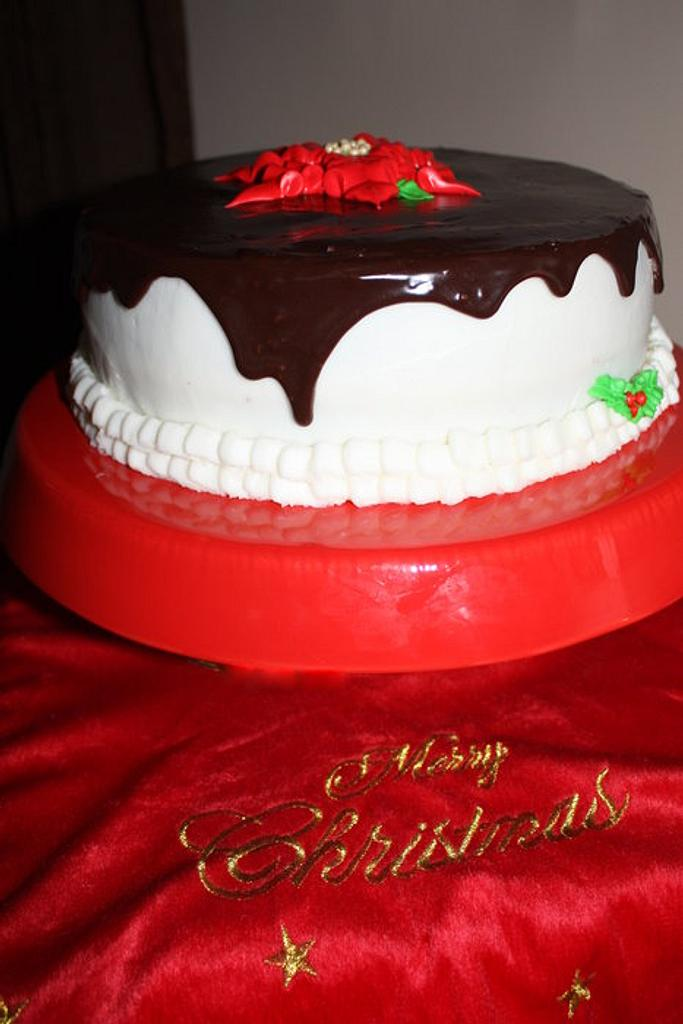 Christmas Poinsetta Cake by Pam and Nina's Crafty Cakes