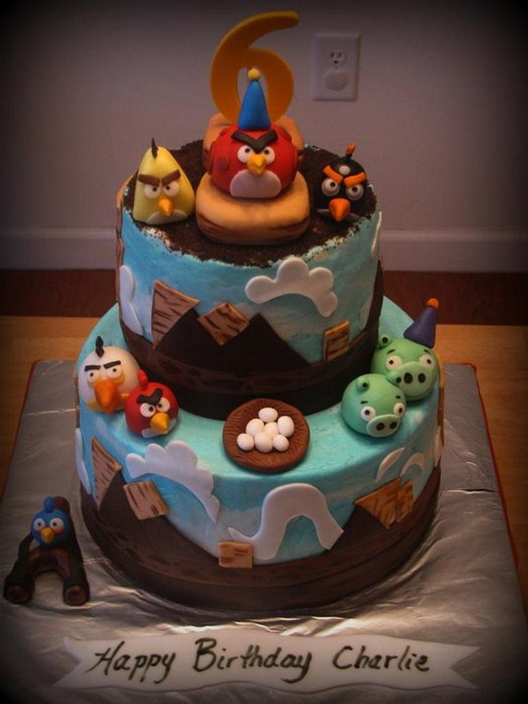 Angry Birds Cake by Deborah