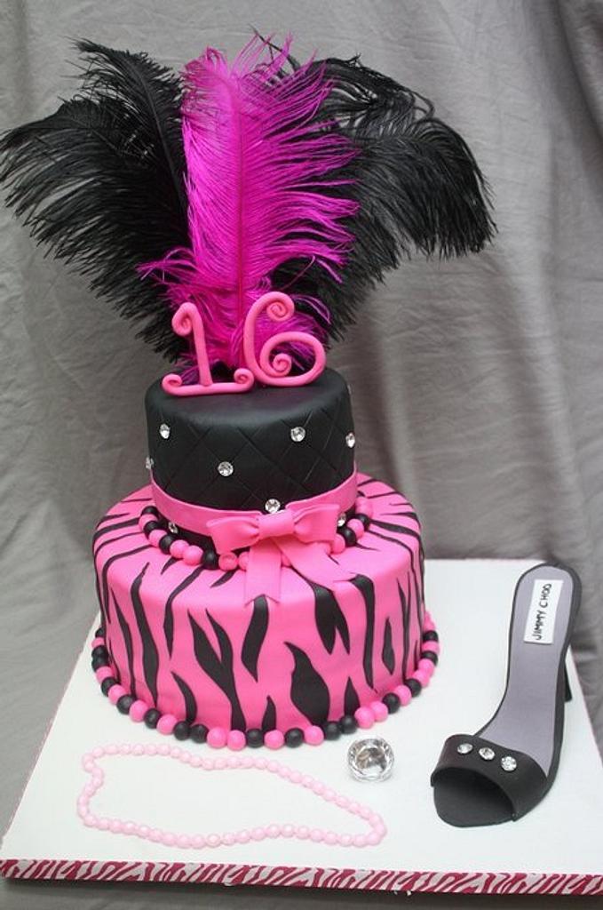 Sweet 16 cake by Virginia