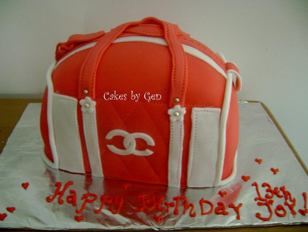Chanel purse cake by Gen