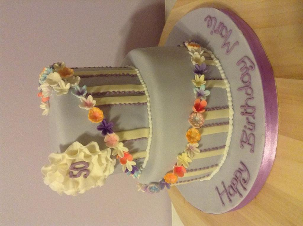 Flower rings cake by Marge