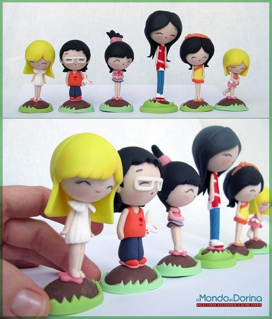 6 mini chocolate eggs for 6 mini characters :) by IlMondodiDorina