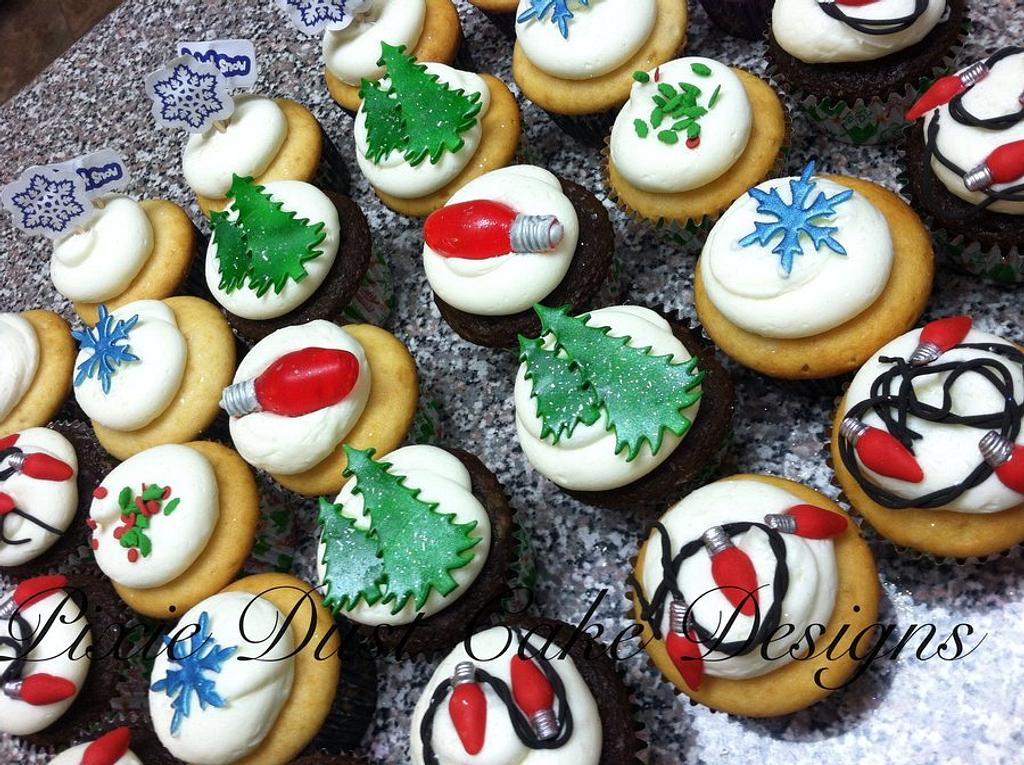 Christmas Cupcakes by Pixie Dust Cake Designs