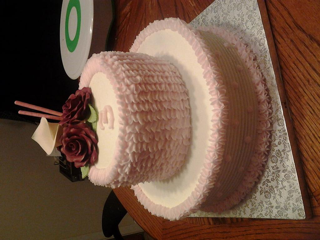 Last minute cake for friends anniversary celebration by FancySweets