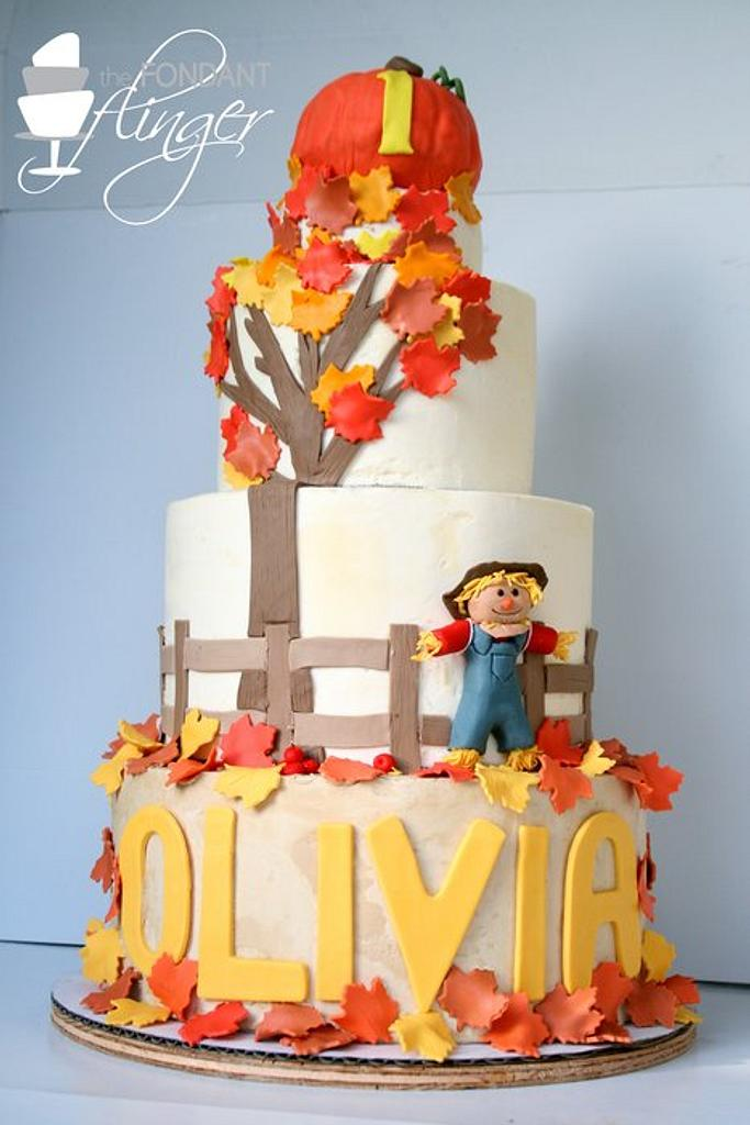 Autumn inspired 1st birthday cake by Rachel Skvaril