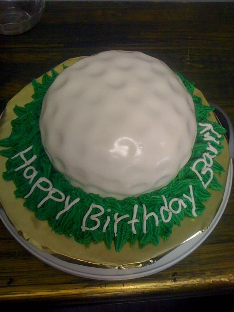 Golf Ball cake by Dana