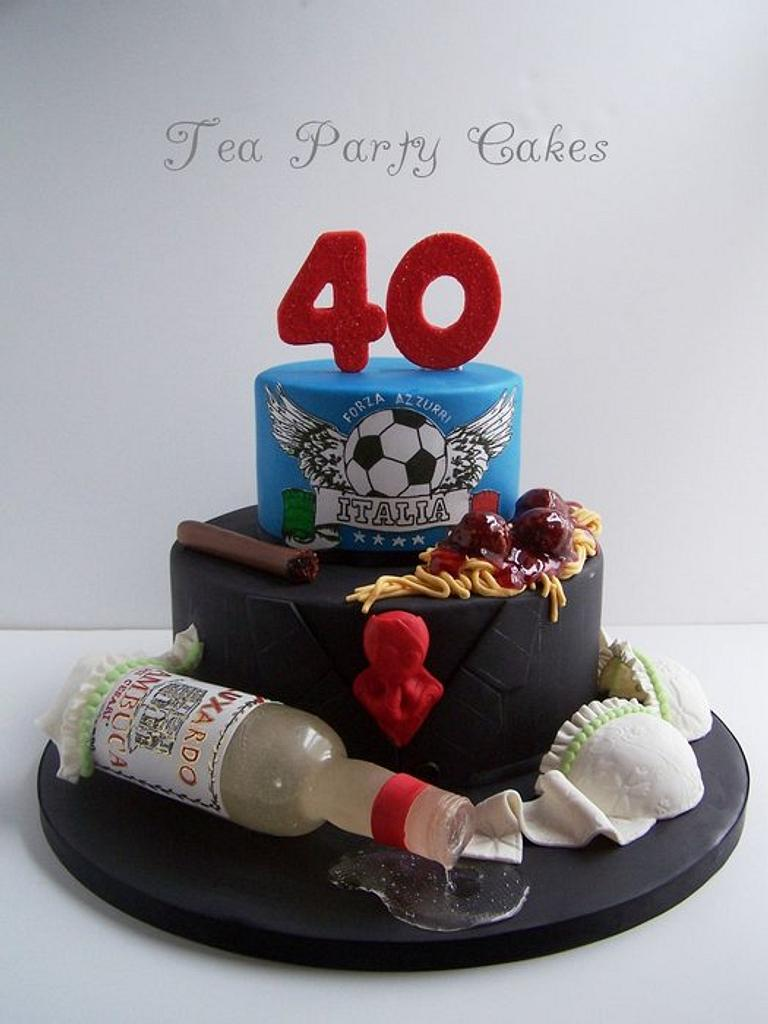 Bachelor's 40th Birthday Cake by Tea Party Cakes