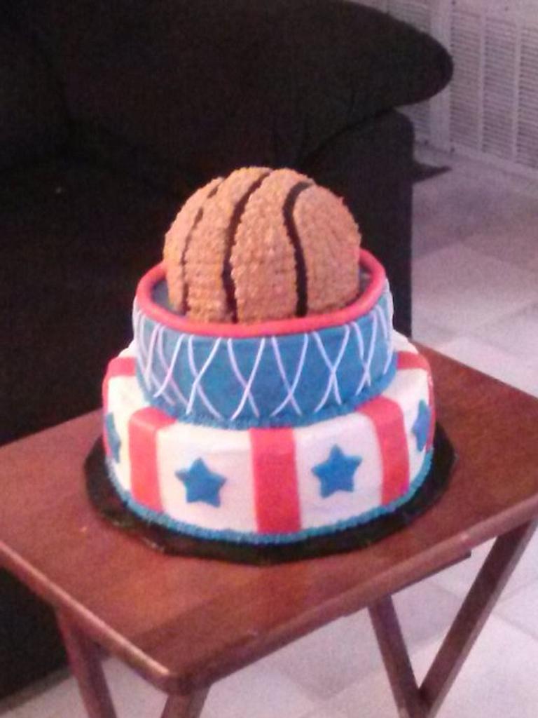 Basketball Cake by Sharon Cooper