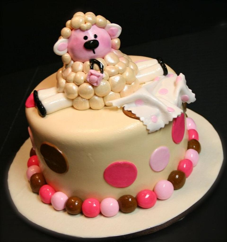 Baby Sheep Cake by Stacy Lint