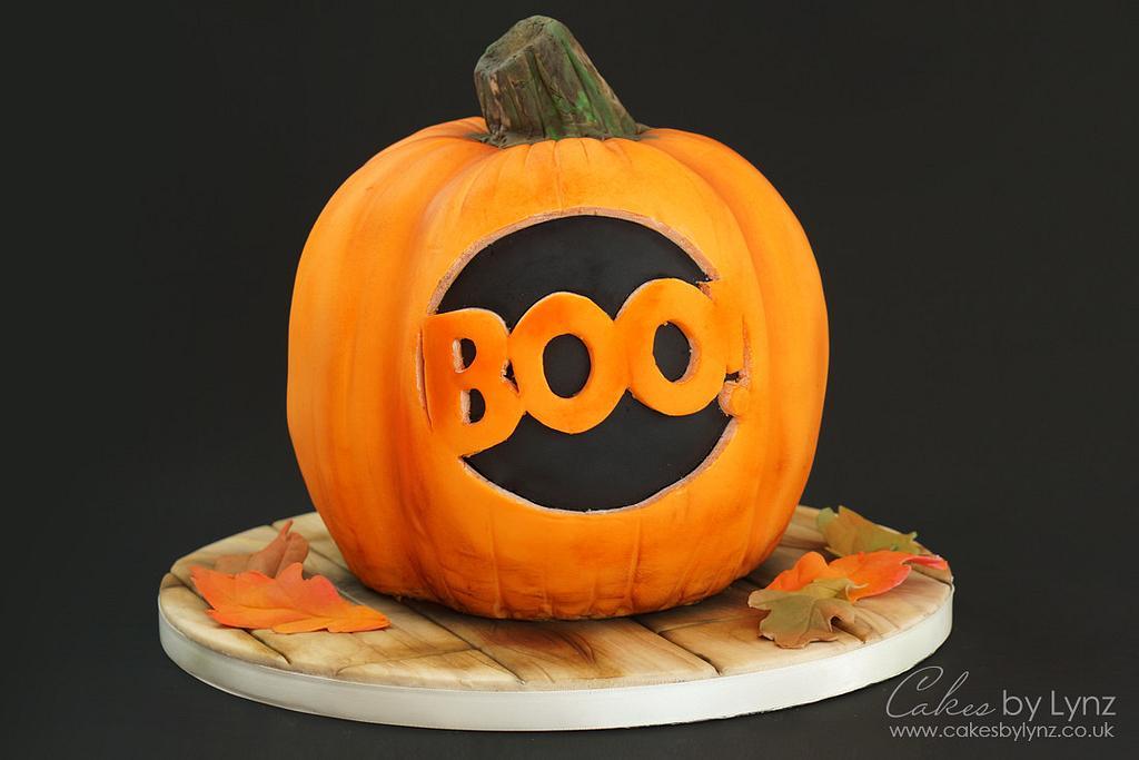 Halloween Pumpkin Cake Decorating Tutorial by CakesbyLynz