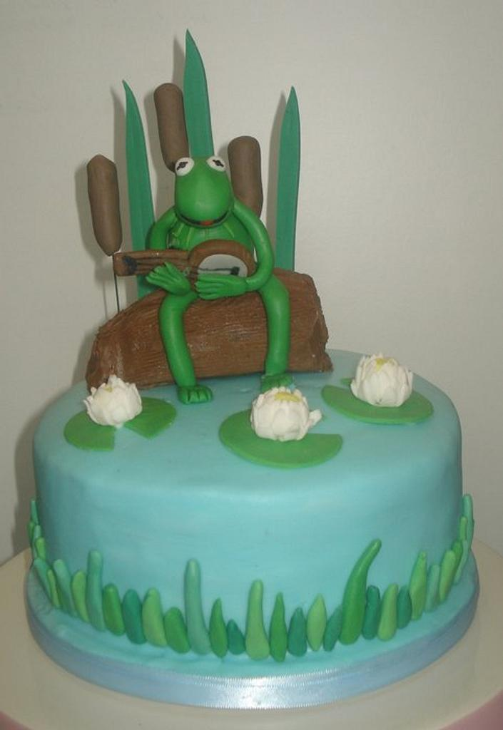 Kermit the frog cake by That Cake Lady