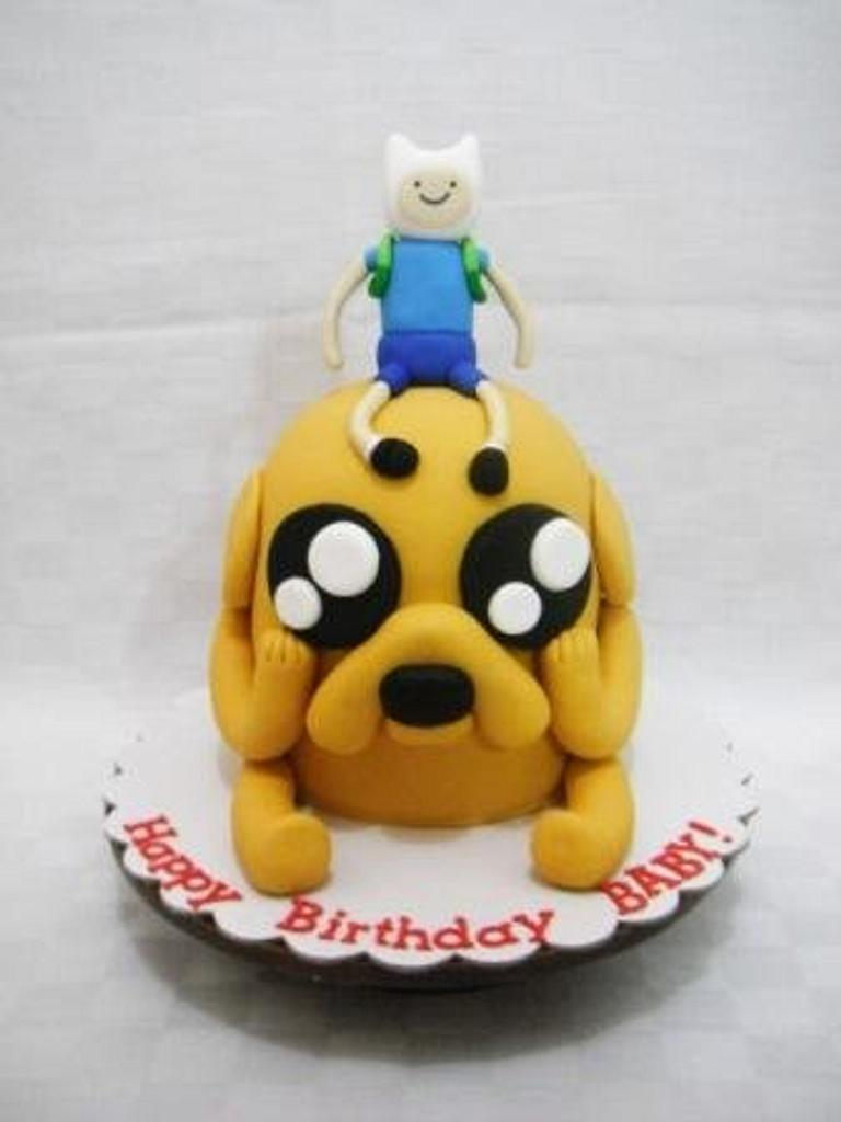 Jake the Dog and Finn the Human Cake by Giselle Garcia