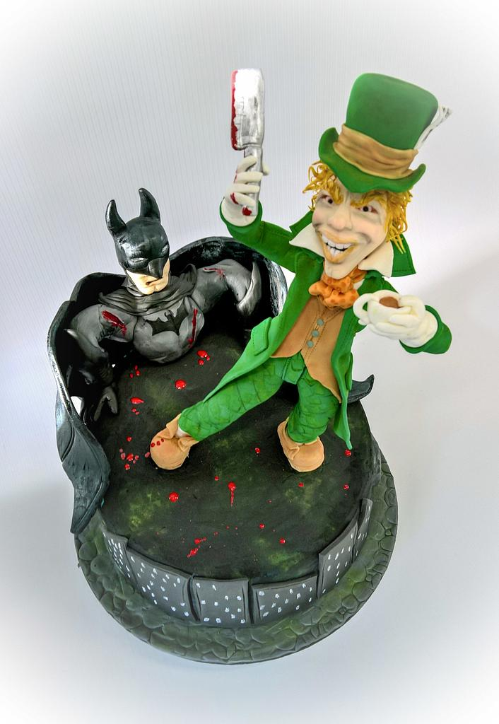 Holy cake Batman- A cake collective collaboration- Mad hatter by claire cowburn