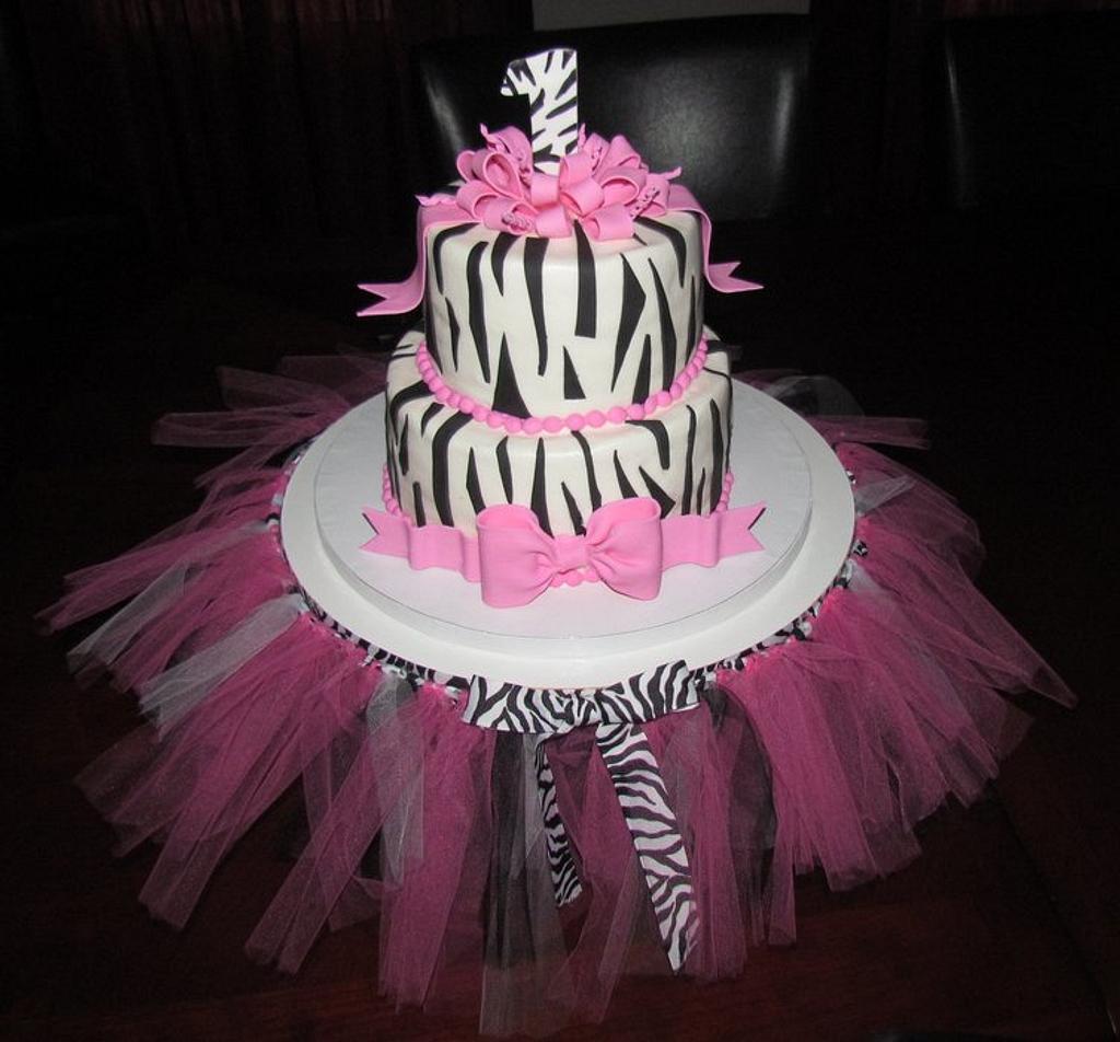 Hot Pink Zebra Print 1st Birthday! by Jaybugs_Sweet_Shop