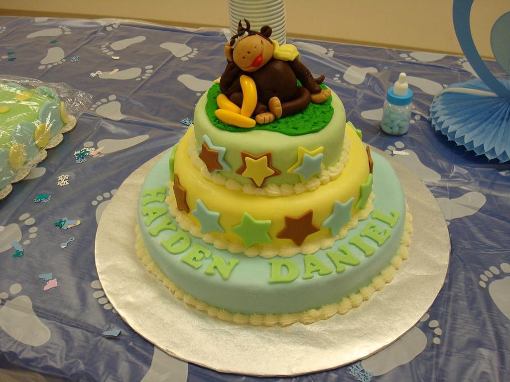 Monkey Cake by naughtyandnicecakes