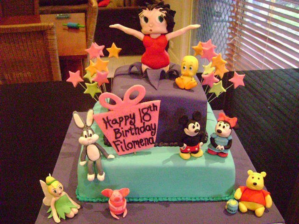 Cartoon character cake by Creative Cake Studio