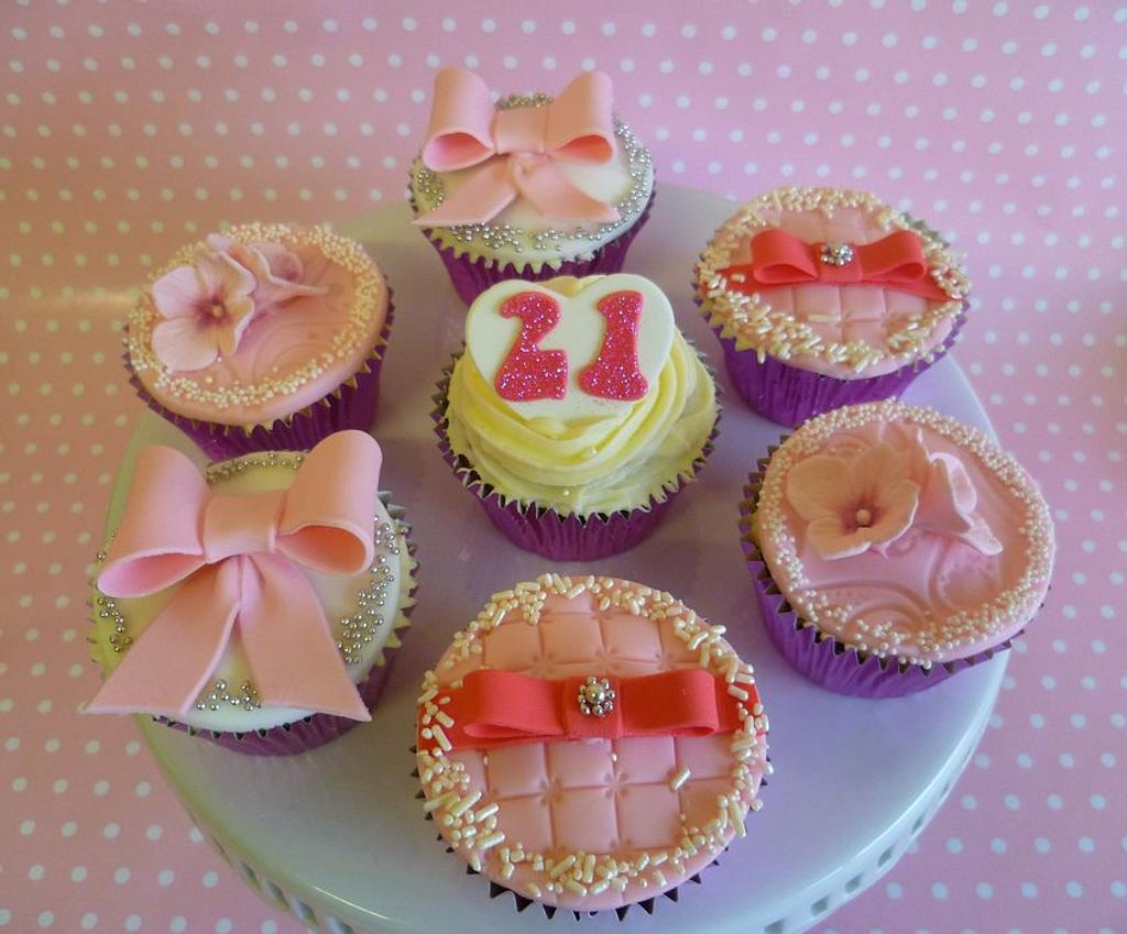21st Birthday cupcakes by Marcia Campbell