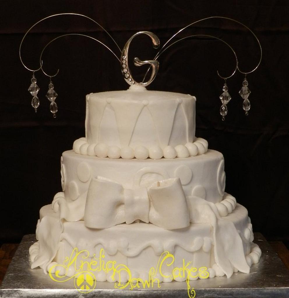 Simple Wedding Cake  by AneliaDawnCakes