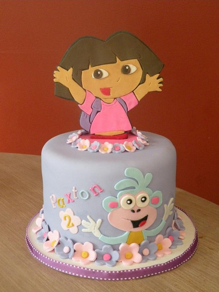 Dora & Boots topper cake by Dani Johnson