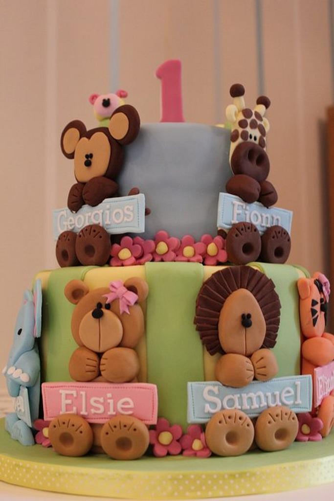 Joint 1st Birthday Cake by Strawberry Lane Cake Company