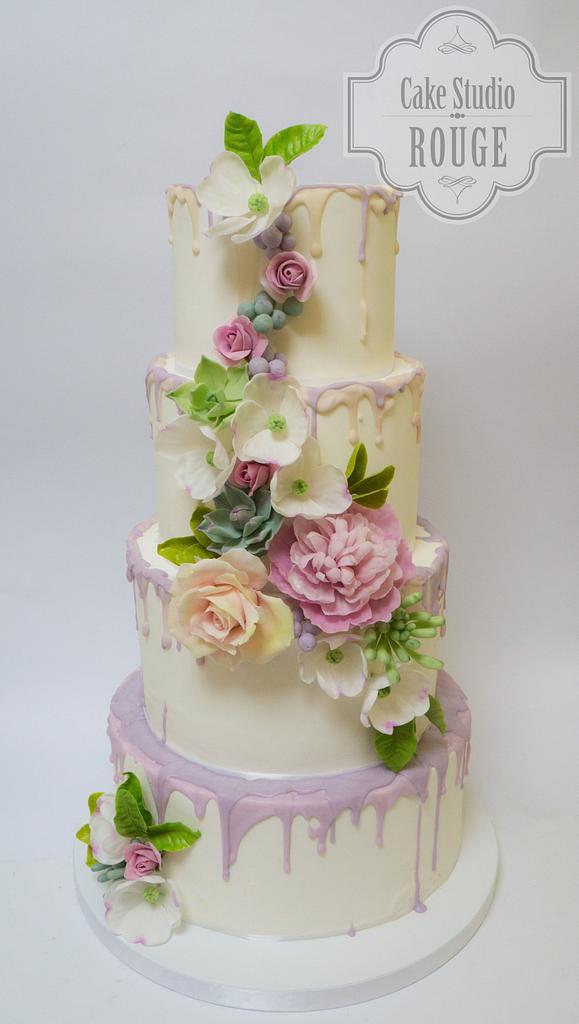 Flower wedding cake by Ceca79