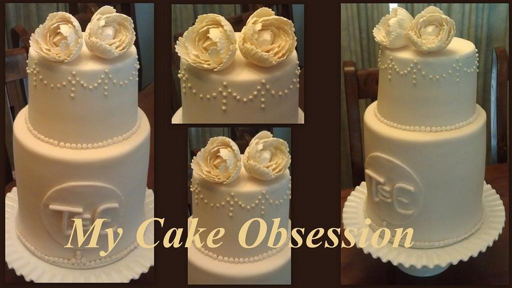 Emma's Wedding Cake by My Cake Obsession