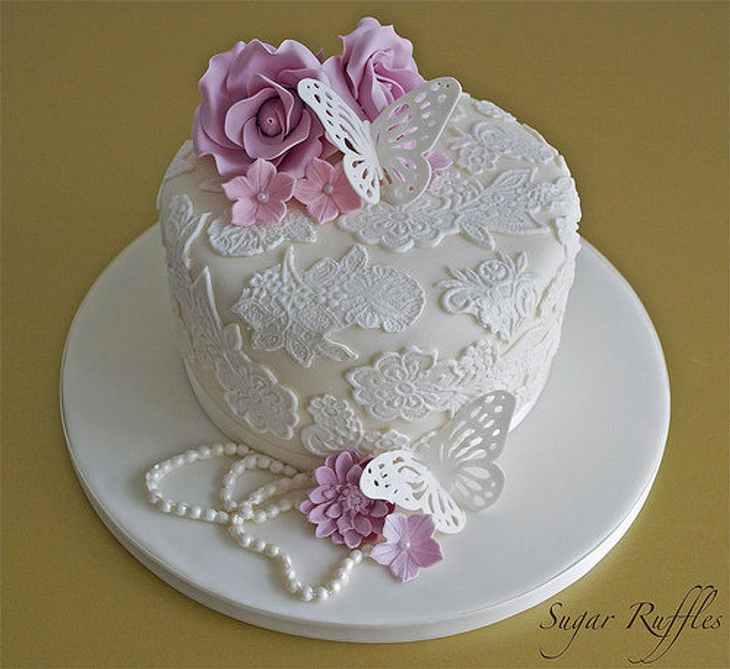 Vintage Lace Cake by Sugar Ruffles
