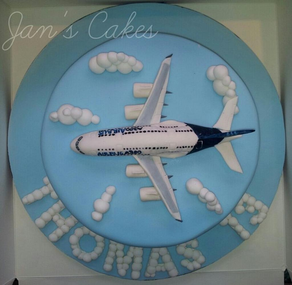 Airbus A380 Birthday cake by Jan