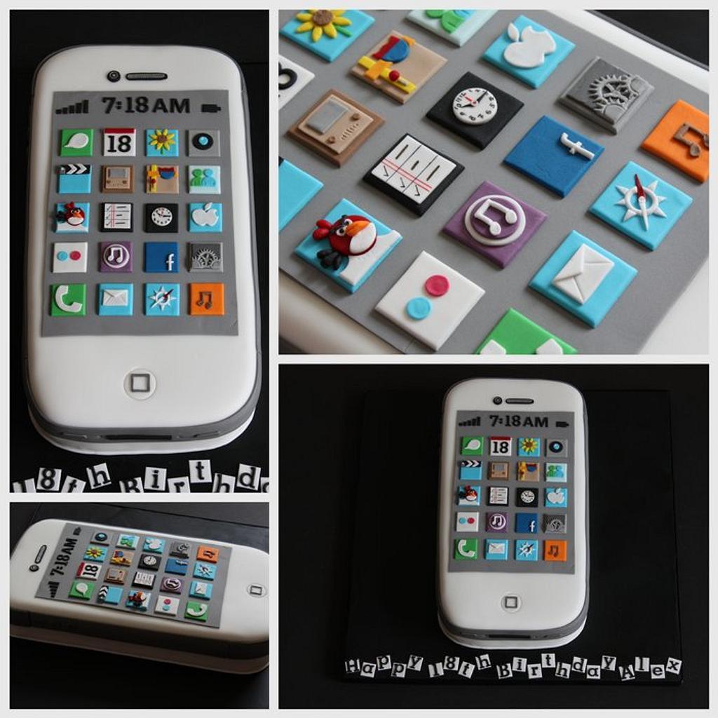 iphone cake by TiersandTiaras