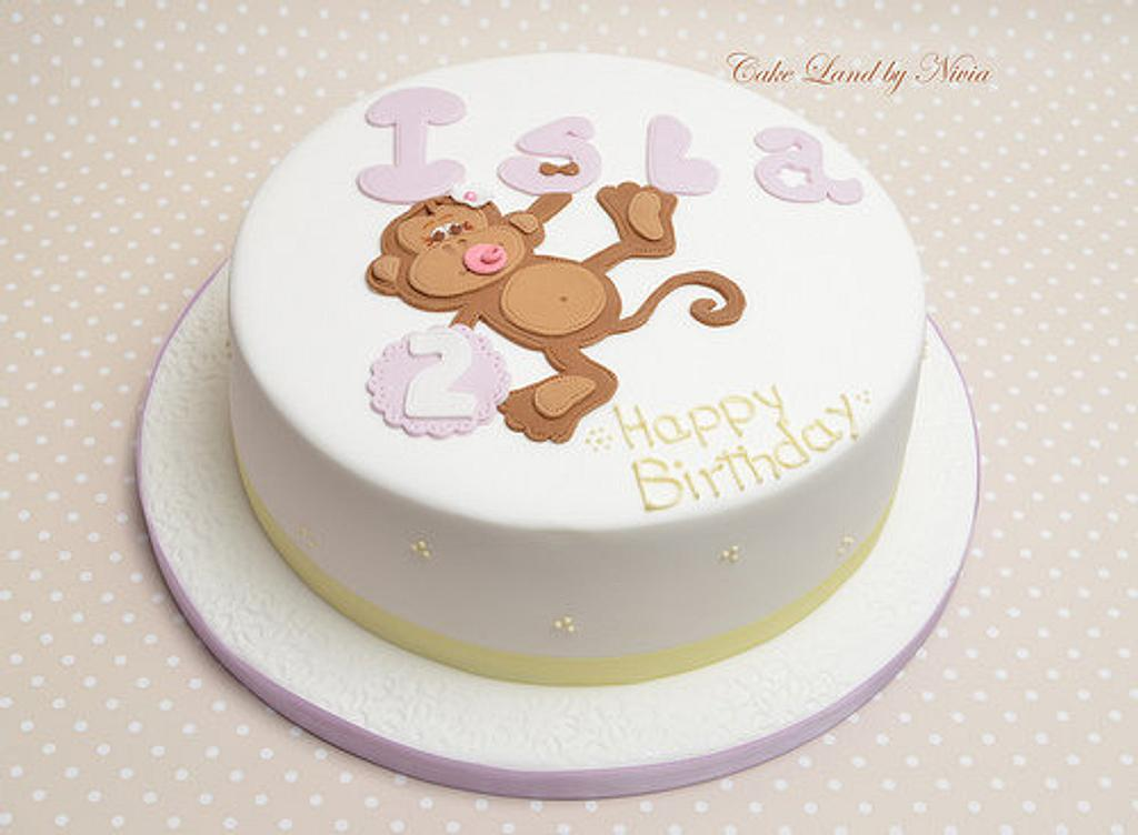 2nd birthday cake by Nivia