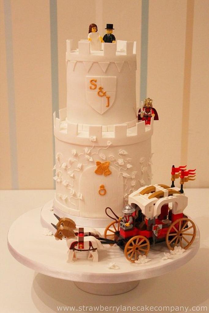 Jen and Steve's Lego Castle Wedding Cake by Strawberry Lane Cake Company