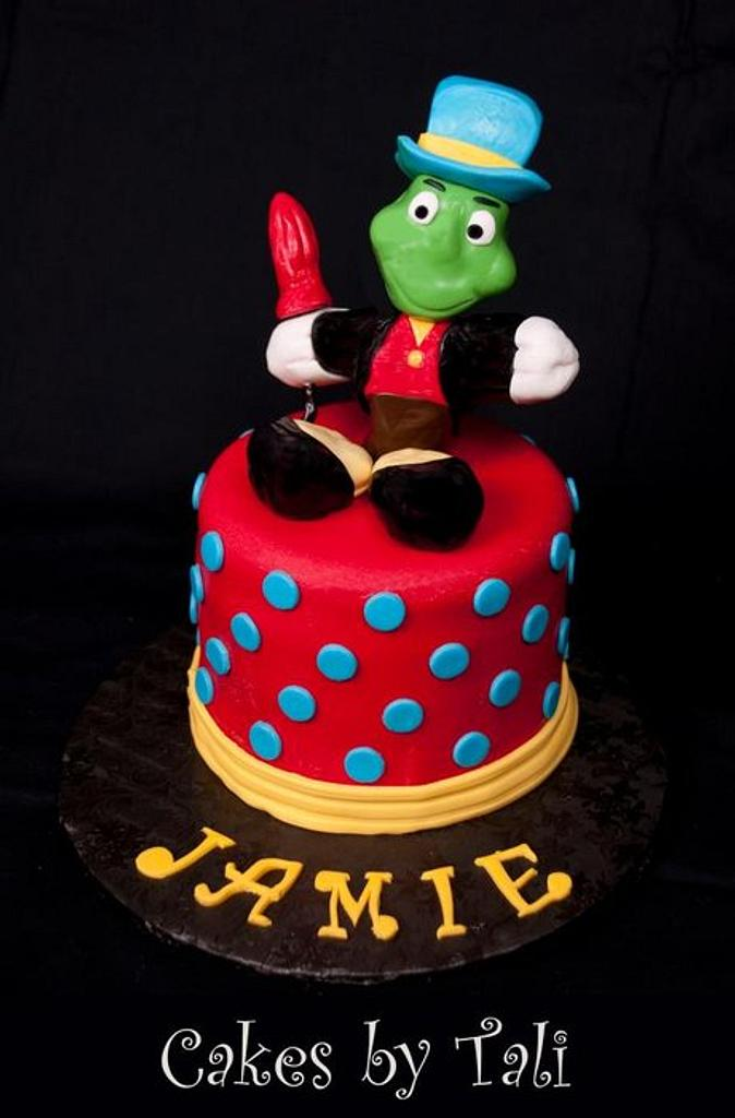 Jiminy Cricket cake by Tali