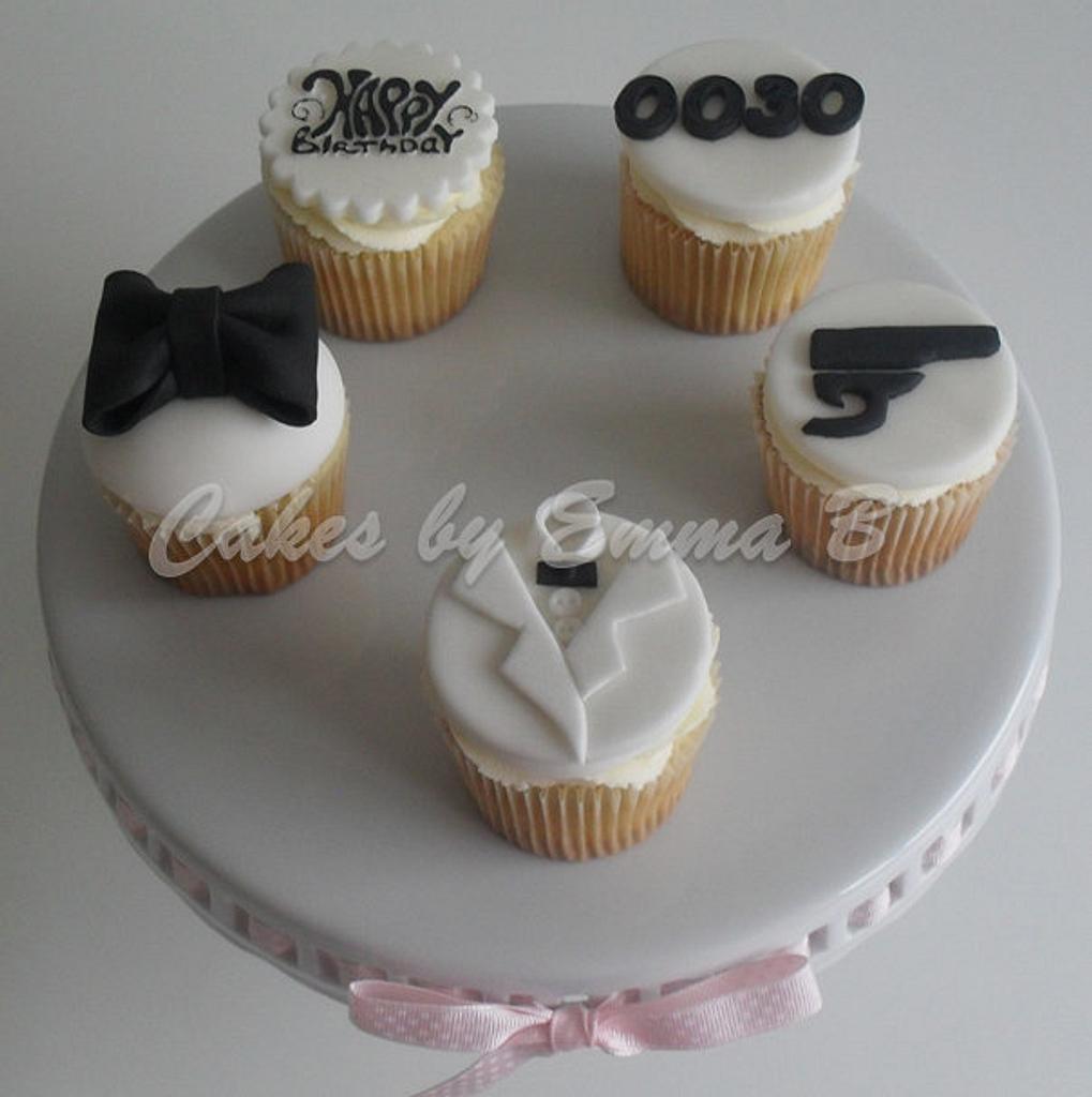 0030 James Bond Cupcakes by CakesByEmmaB
