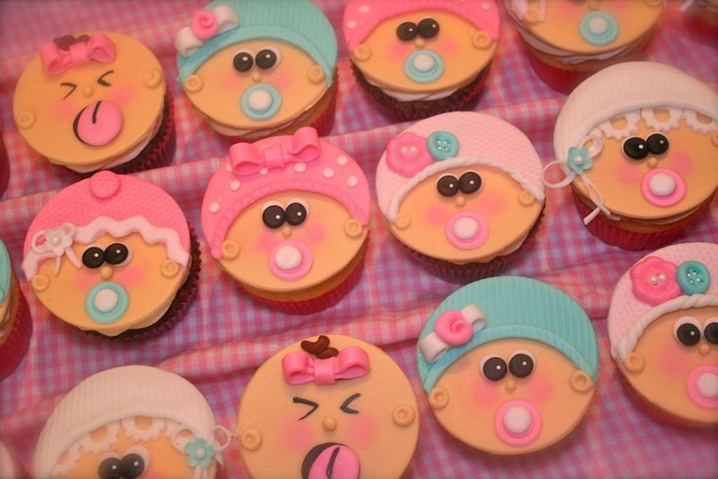 Baby Girl Cupcakes by Stacy Lint