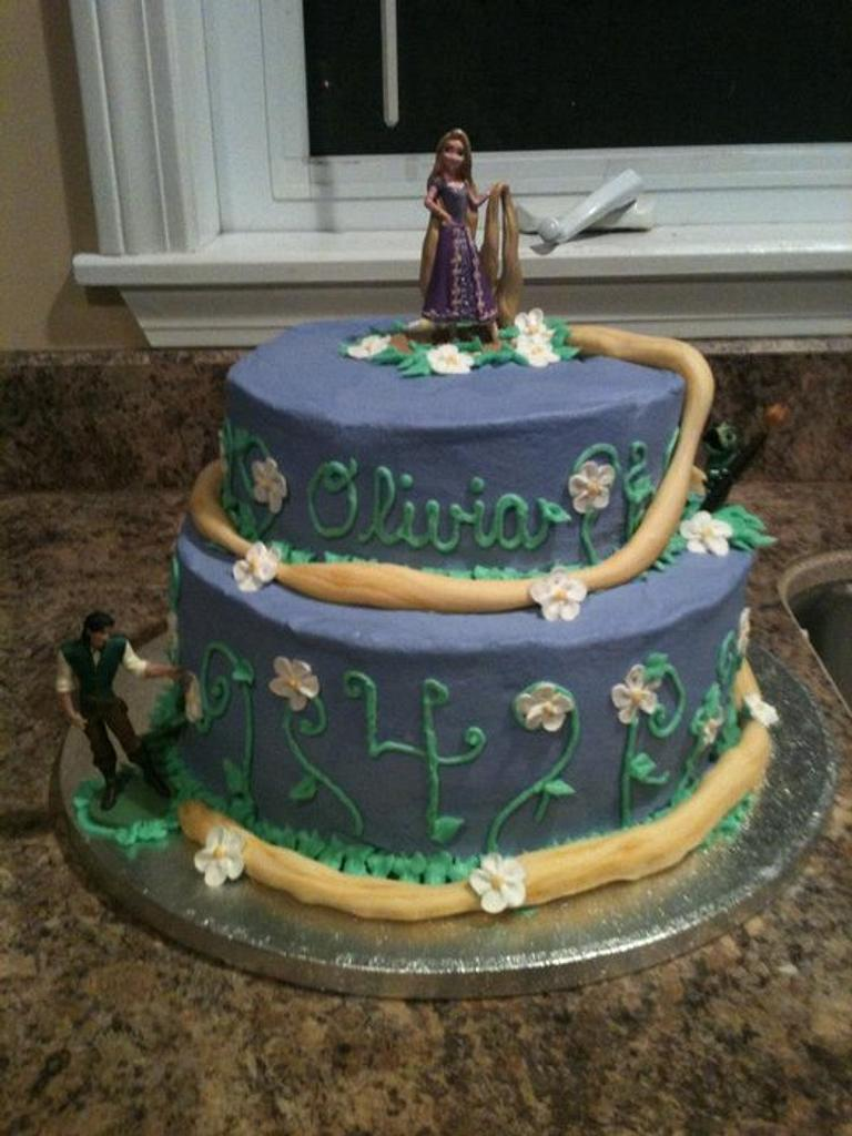 tangled cake by michelle