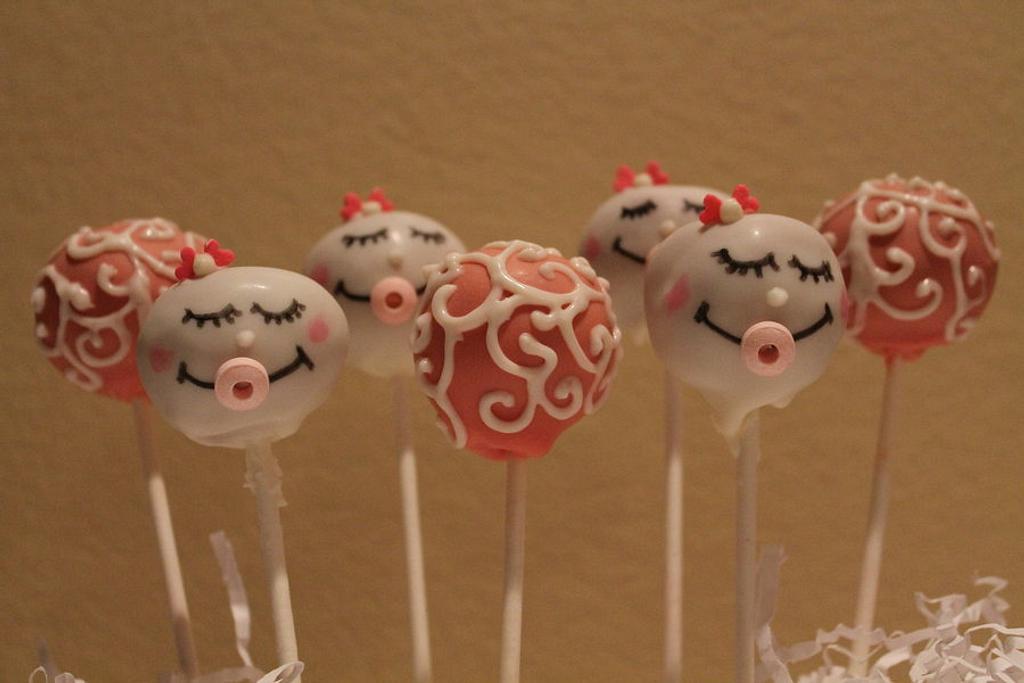 baby  shower cakepops by carolyn chapparo