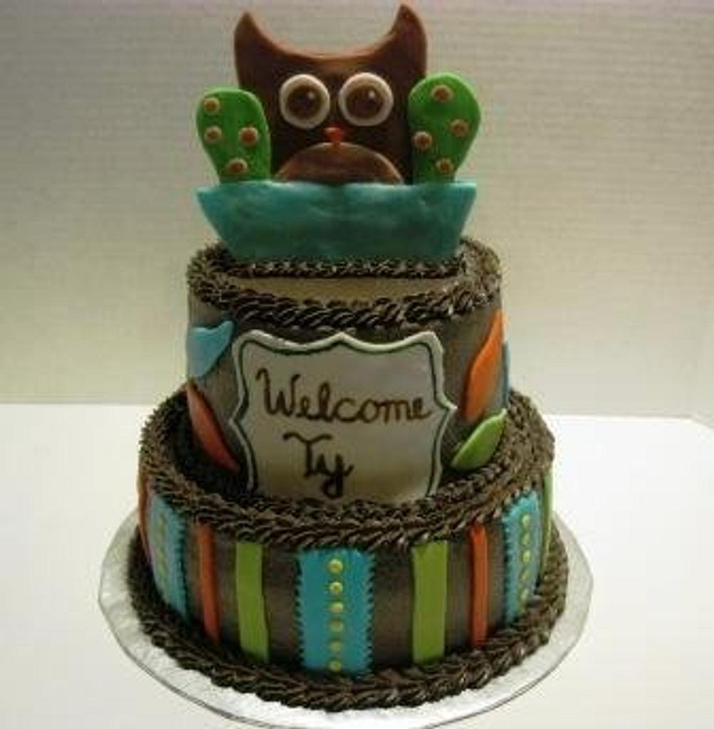 Owl Baby Shower by Tina