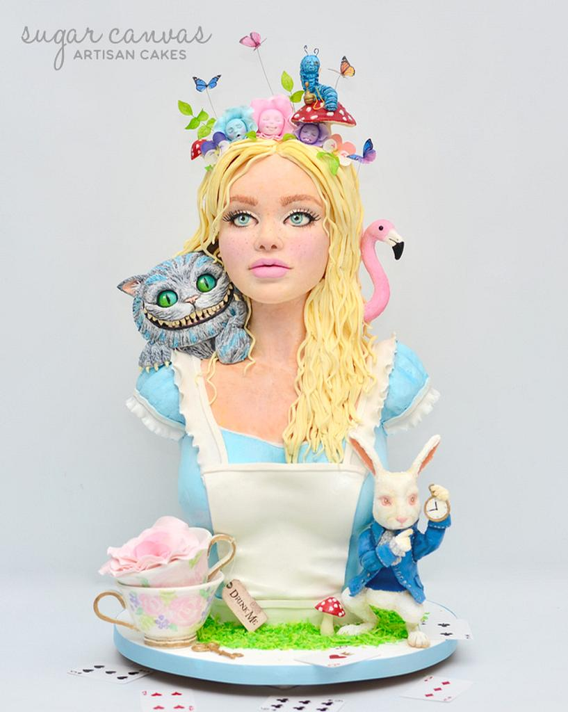 Alice In Wonderland Sculpted Cake by Sugar Canvas