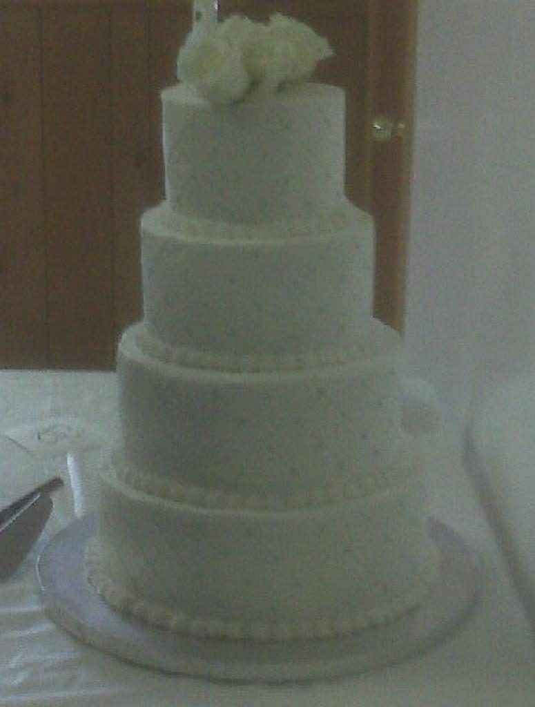 Simple Wedding Cake  by jujucakes