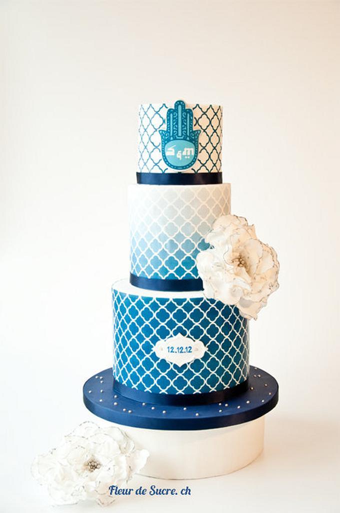 Turkish inspired Wedding Cake by Fleur de Sucre