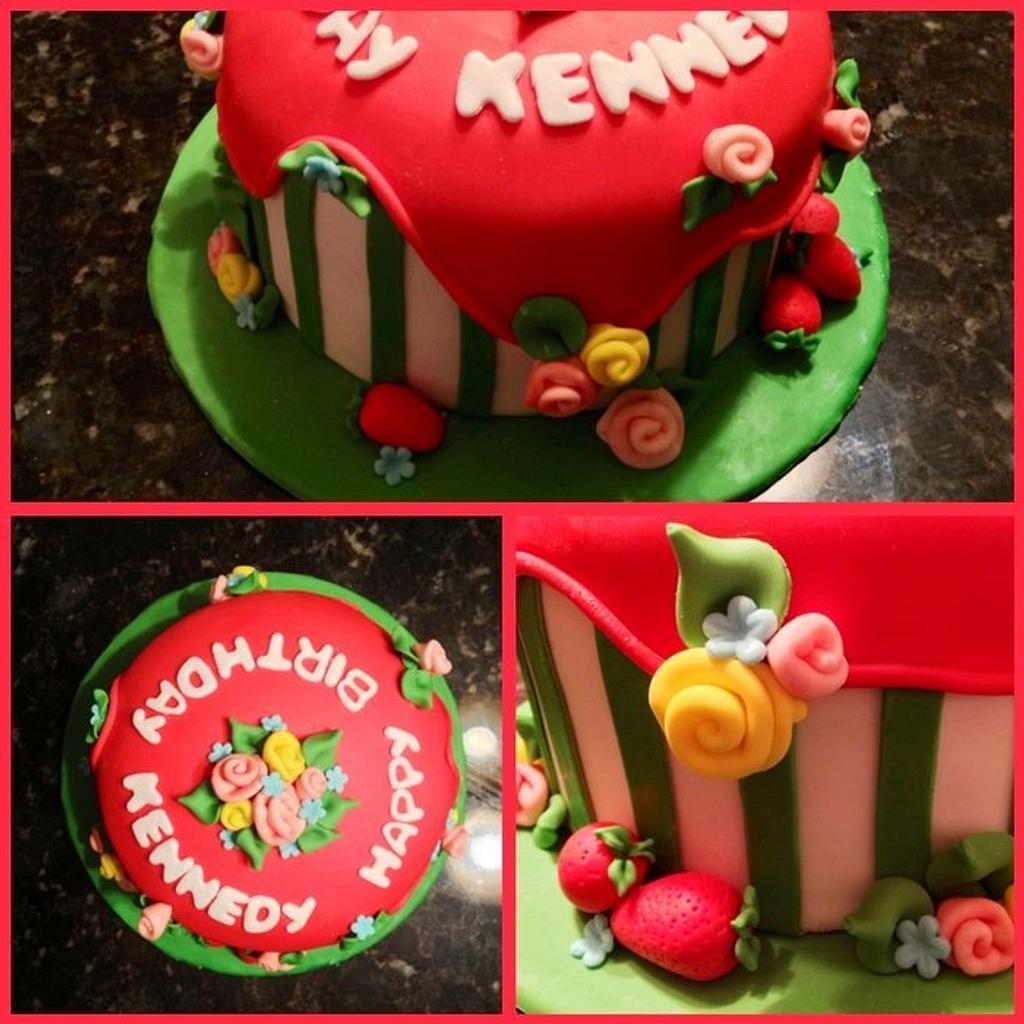 Strawberry Shortcake Cake by Chrissa's Cakes