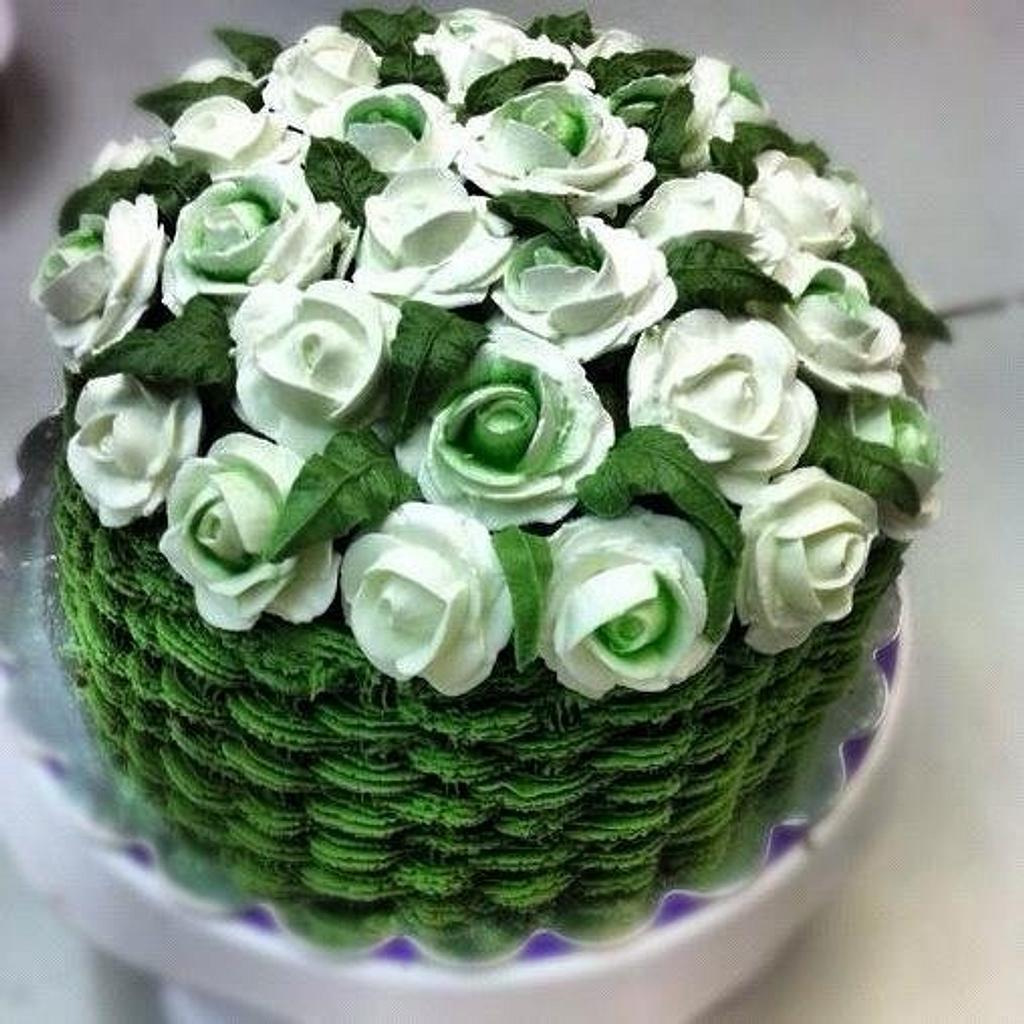 A basket of Roses by Lady D