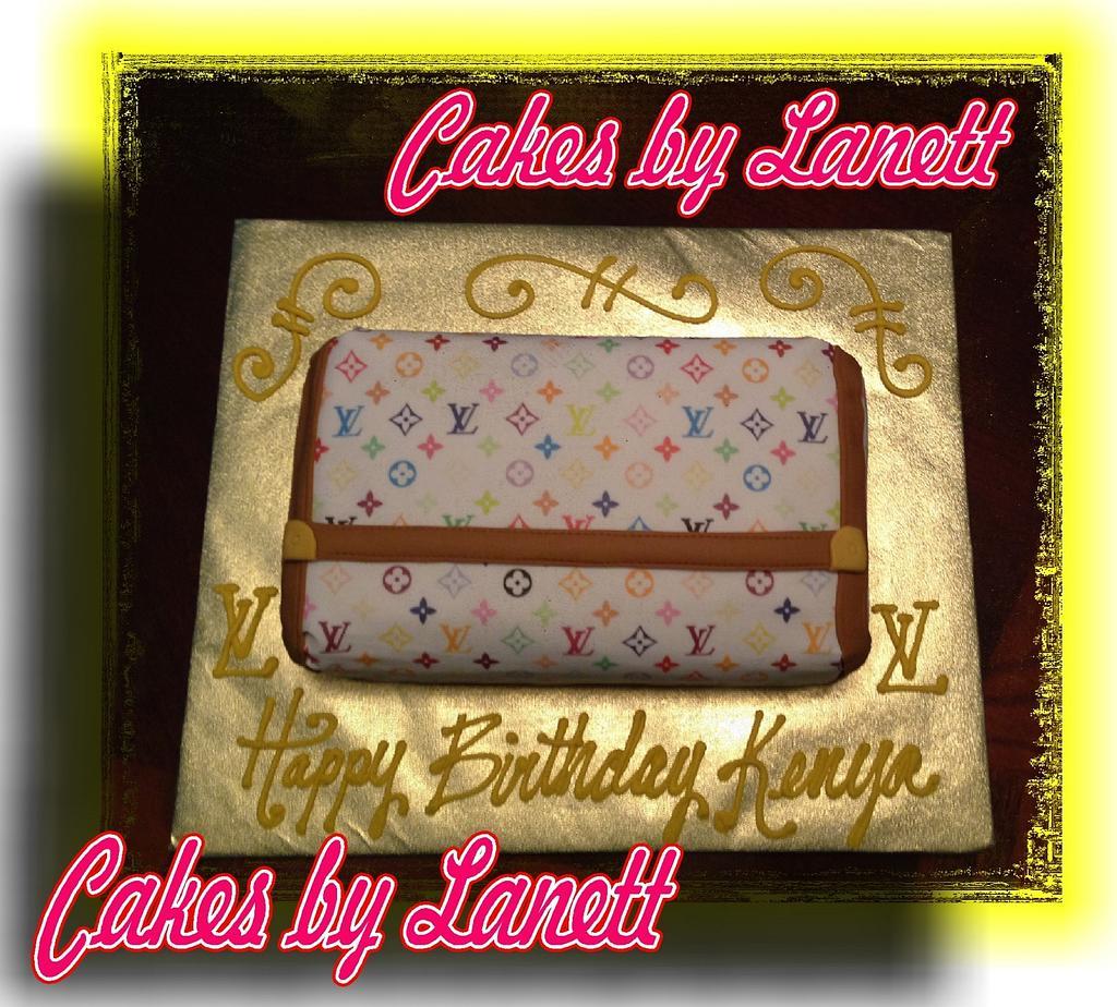 Louis Vuitton Wallet Cake by lanett