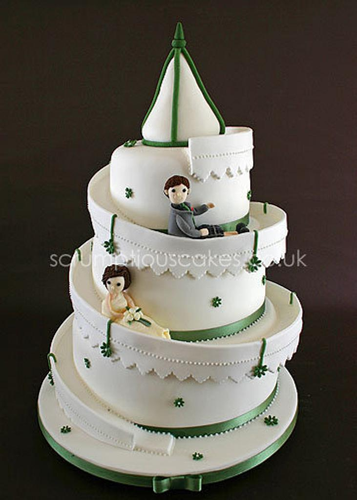 Helter Skelter Wedding Cake by Scrumptious Cakes