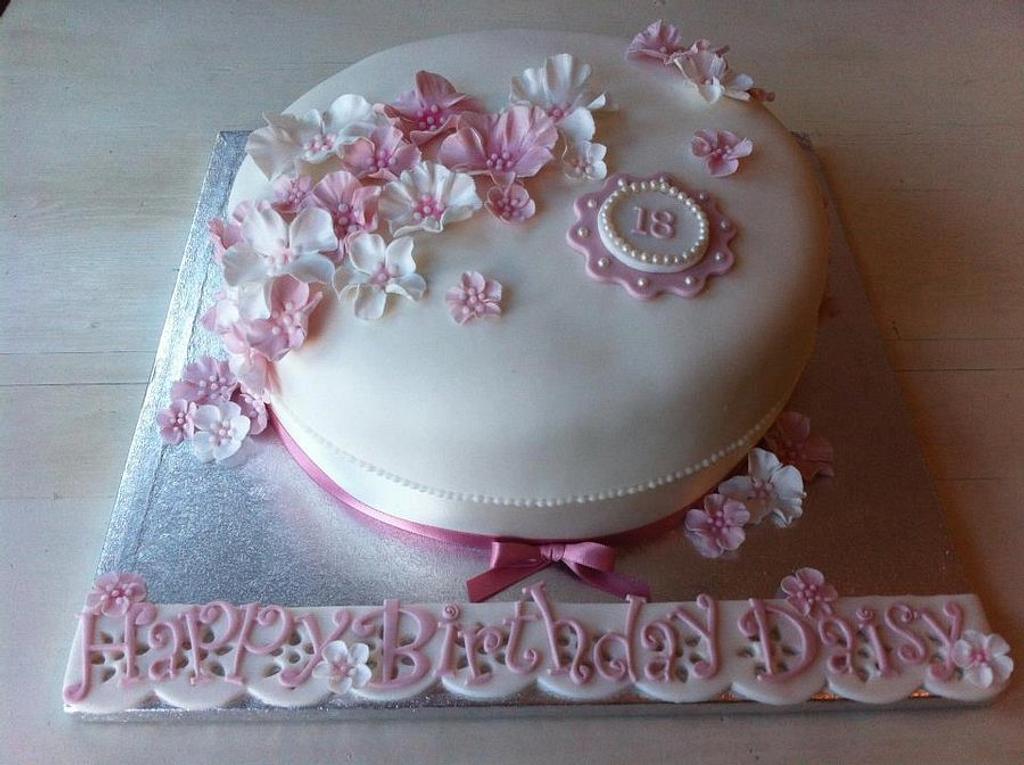 'Elegant Pink' 18th Birthday Cake by CakeDIY