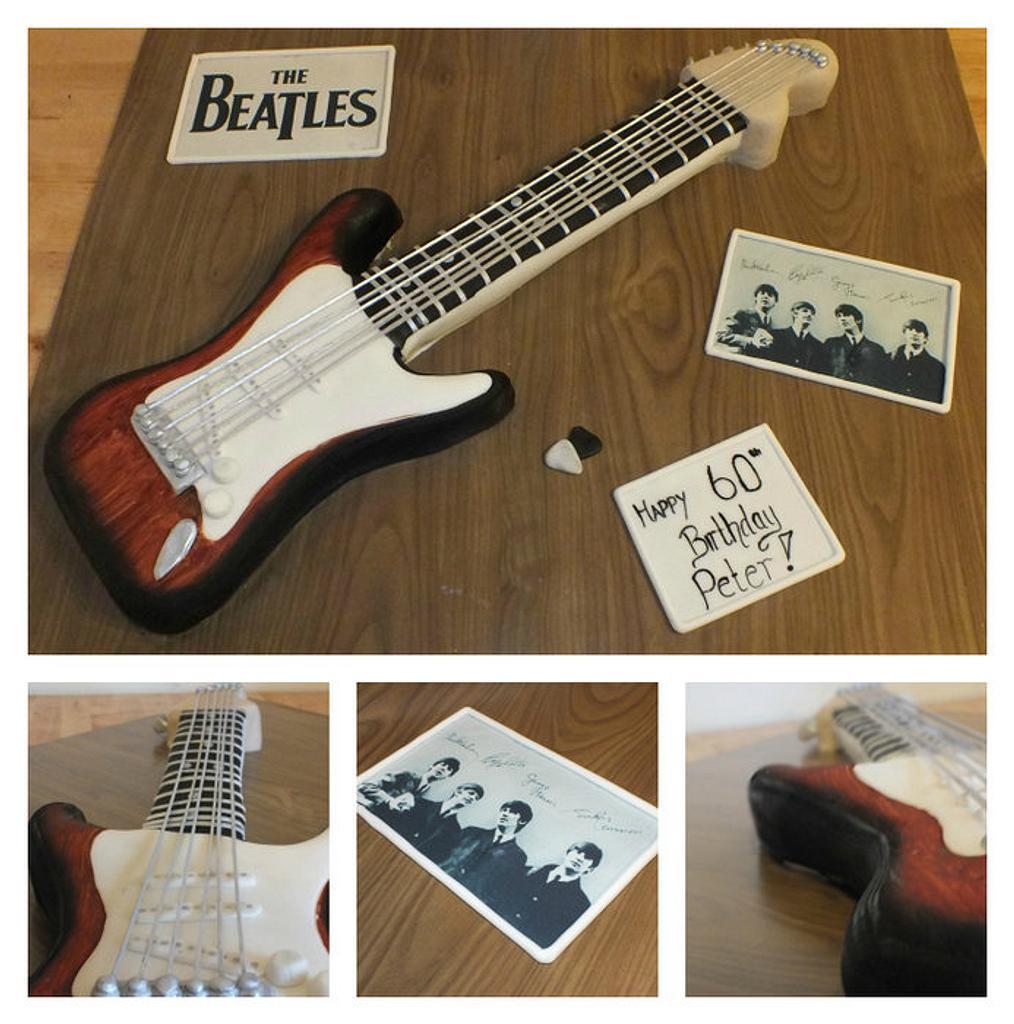 beatles guitar cake by jennie