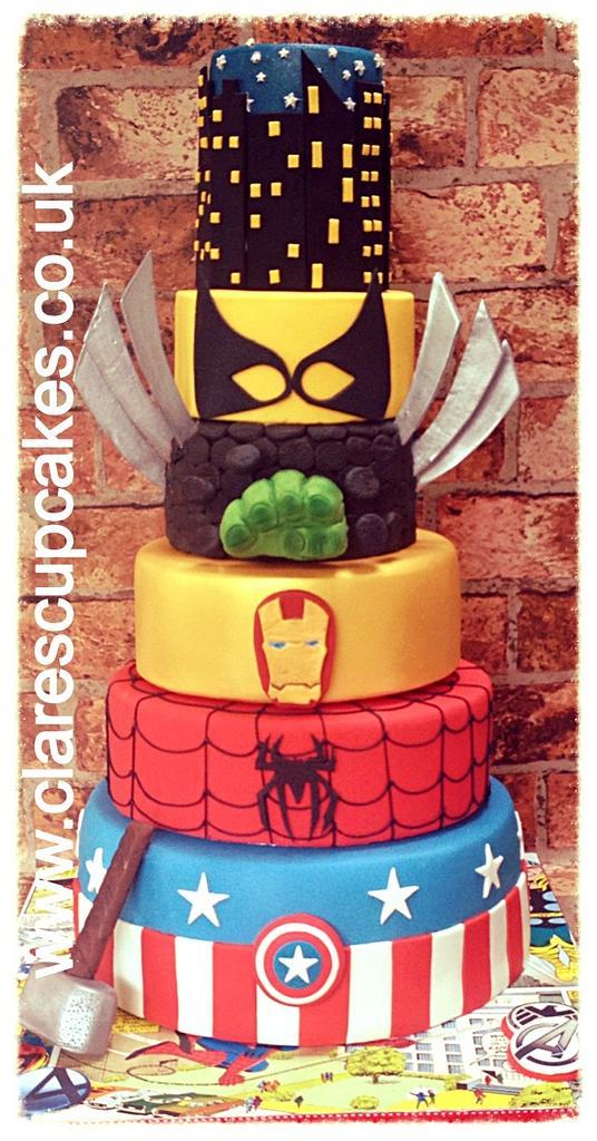 Marvel Superhero Cake by ClaresCupcakesLondon